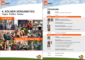 Flyer Vergabetag 2015